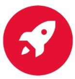 Rocket taking off icon