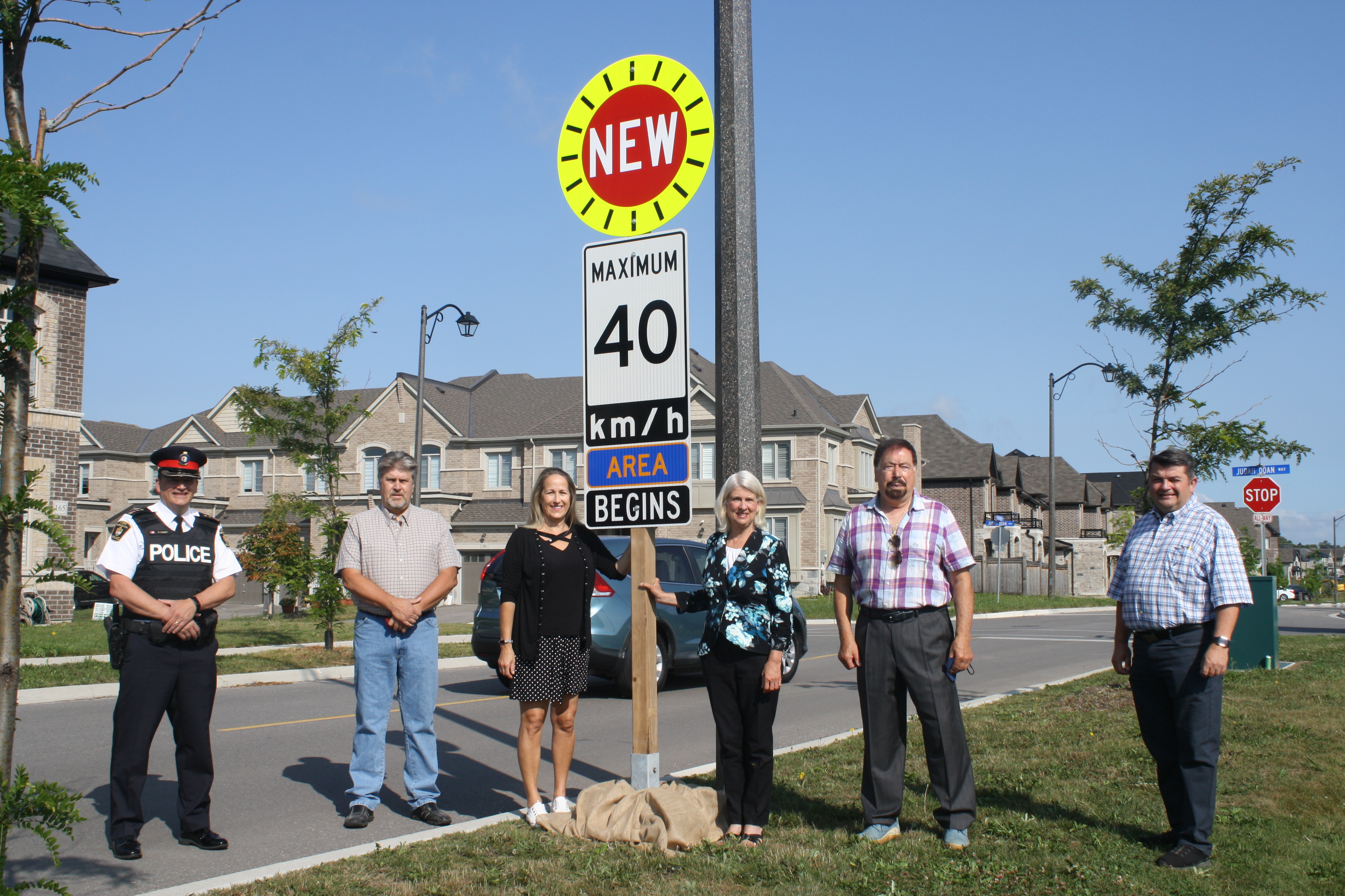 Council Installing Gateway Speed Limit Sign